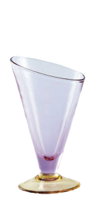 Glass blown Ice cream cup Lilac Yellow(12pcs)