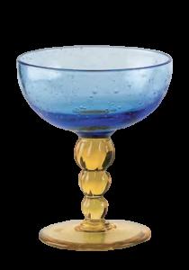 Eis Gläser Blau Gelb (6 Stück)