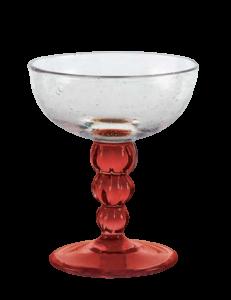 Eis Gläser Transparent Rot (6Stück)