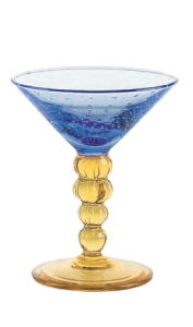 Glass blown Ice cream cup  Bluette Yellow (12pcs)