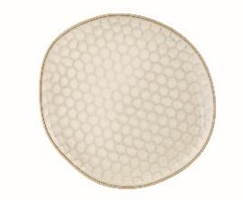 Beige Dessert Plate - Stoneware