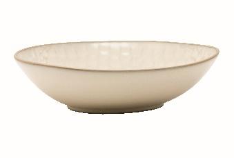 Beige Deep Plate - Stoneware