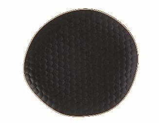 Matt Schwarz Charger Plate Steinzeug