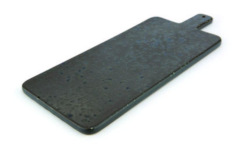 Braunes Schneidebrett mit braunen reaktiven Punkten - Steinzeug