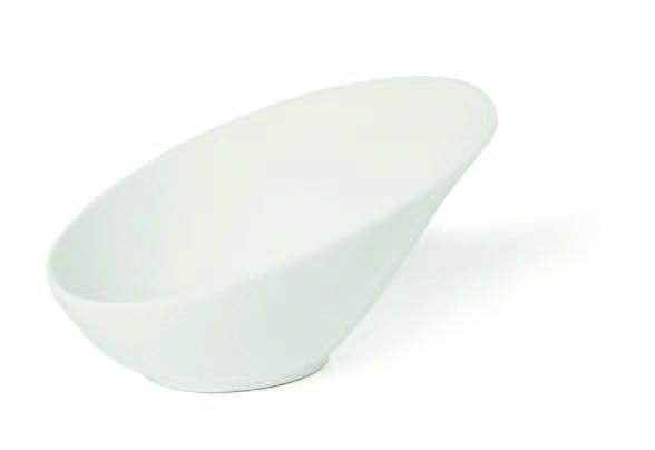 Ivory slanting oval bowl Febe
