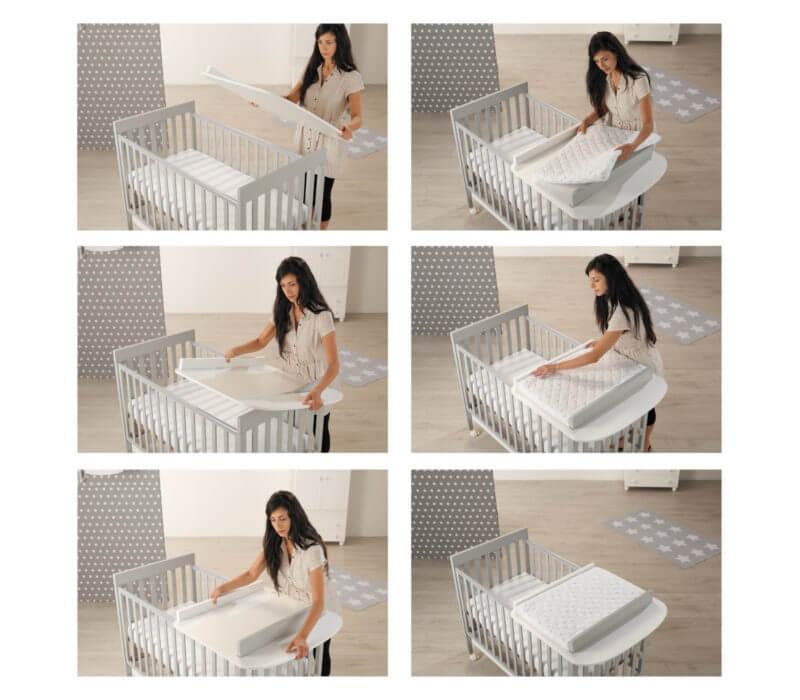 Piano fasciatoio con materassino Linea homi baby space  by Azzurra Design