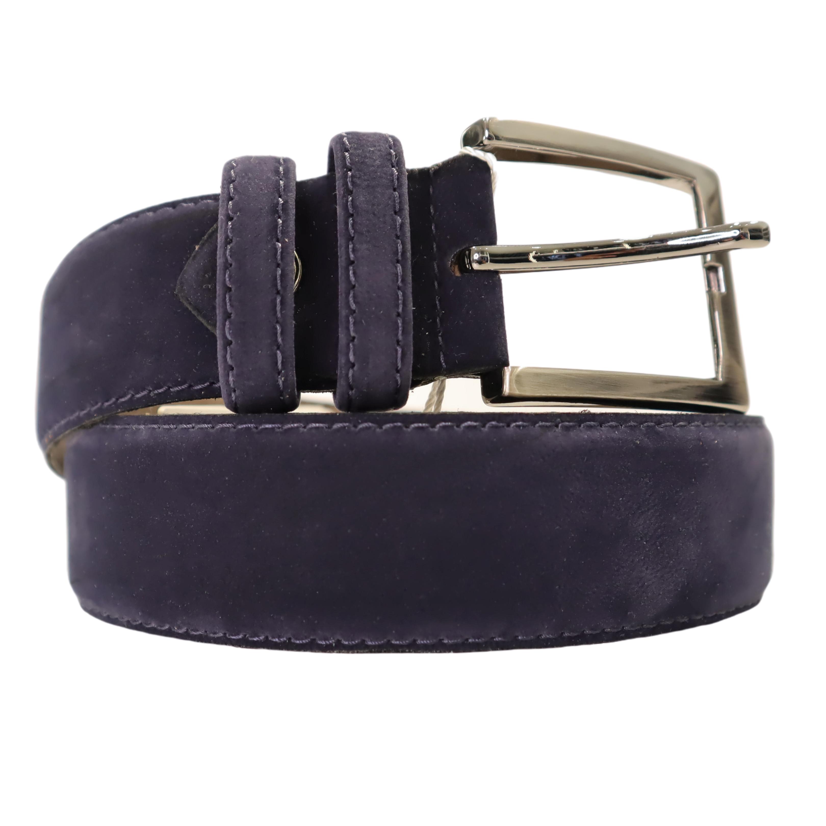 Cintura Musani in camoscio blu