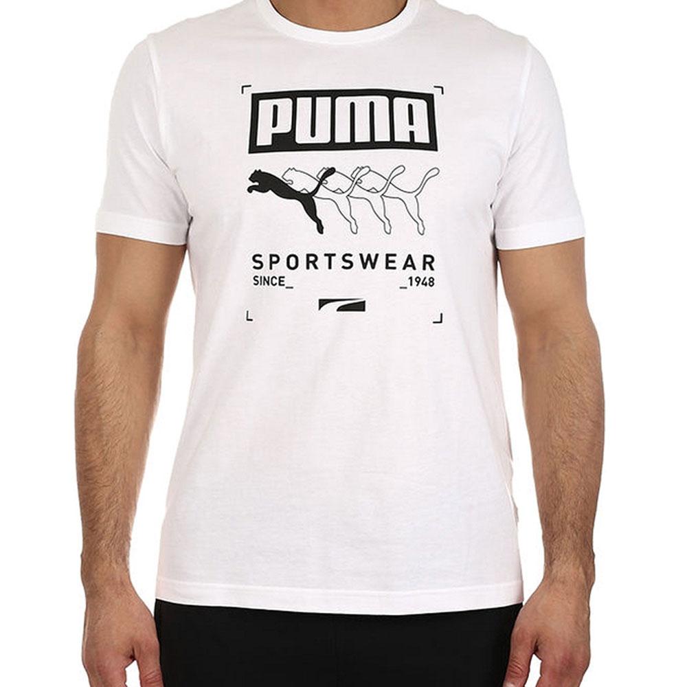 T-shirt Puma Bianca da Uomo