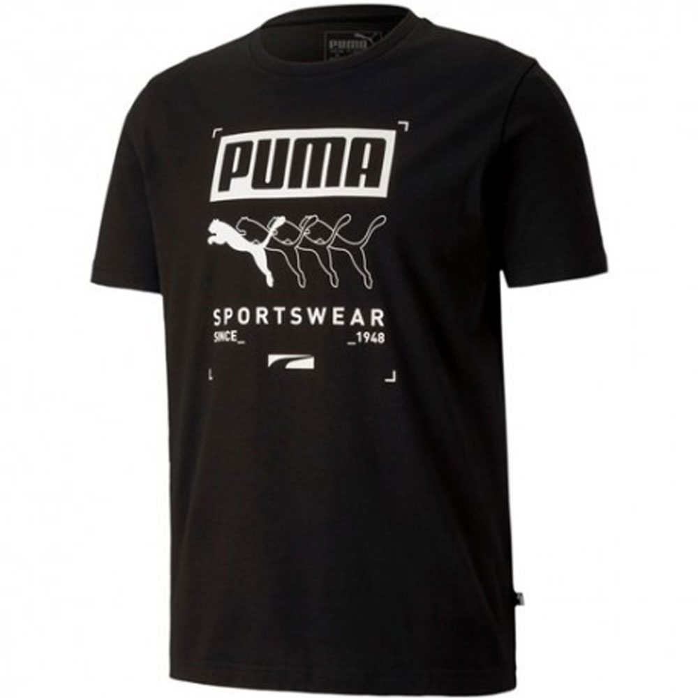 T-shirt Puma Nera da Uomo