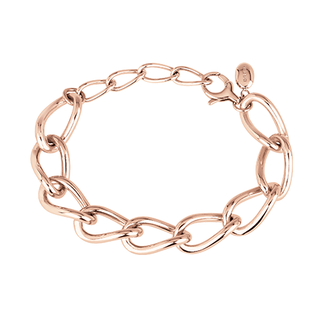 JOIN UP BRACCIALE A CATENA IN ACCIAIO LUCIDO IP ROSA