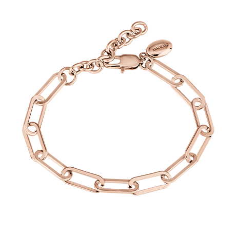 JOIN UP BRACCIALE A CATENA IN ACCIAIO LUCIDO IP ROSE
