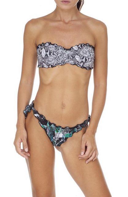 Bikini Fascia e slip nodi brasiliano regolabile Frou Frou Garden Effek