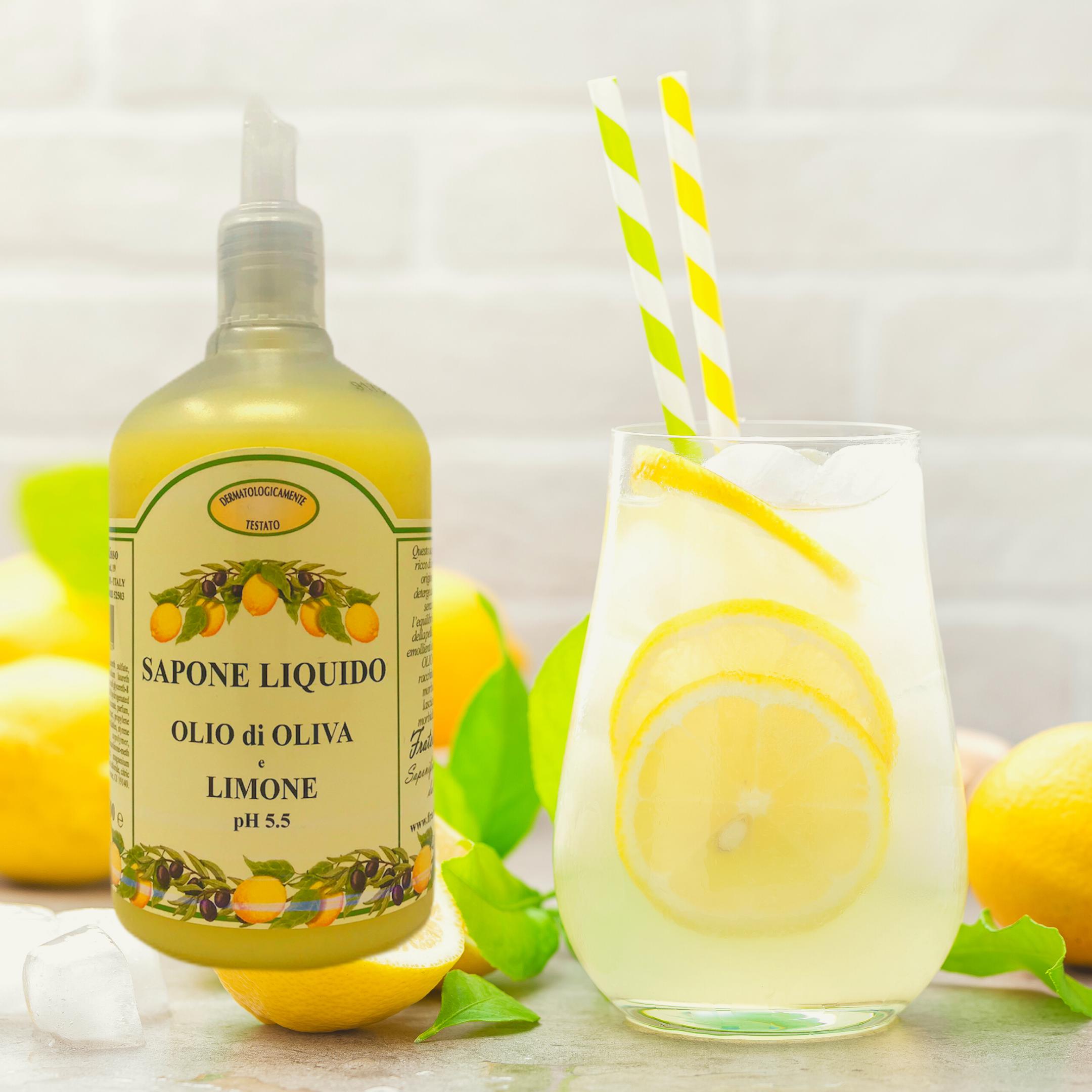 Sapone liquido olio di oliva e limone 500 ml