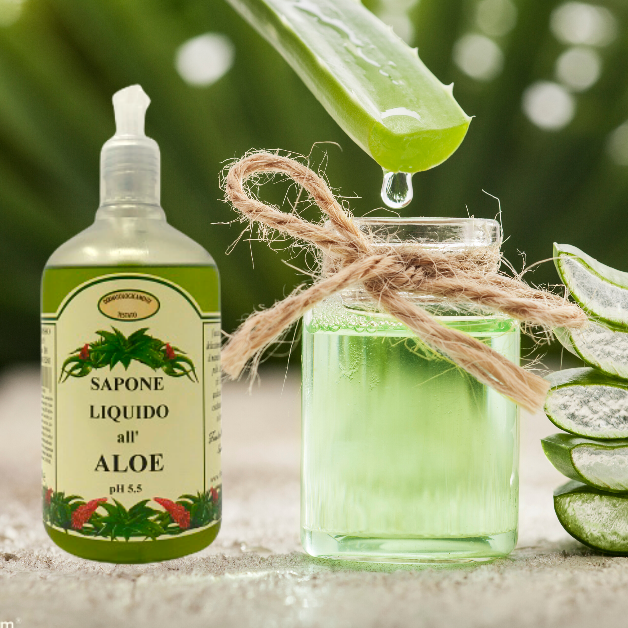 Sapone liquido all'aloe 500 ml