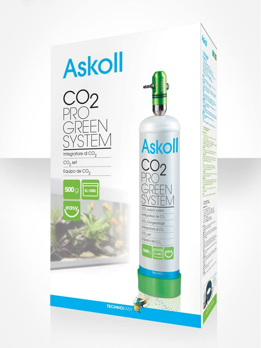 Askoll CO2 Pro Green System Impianto a CO2 Acquario Made In Italy Bombola Co2 500gr
