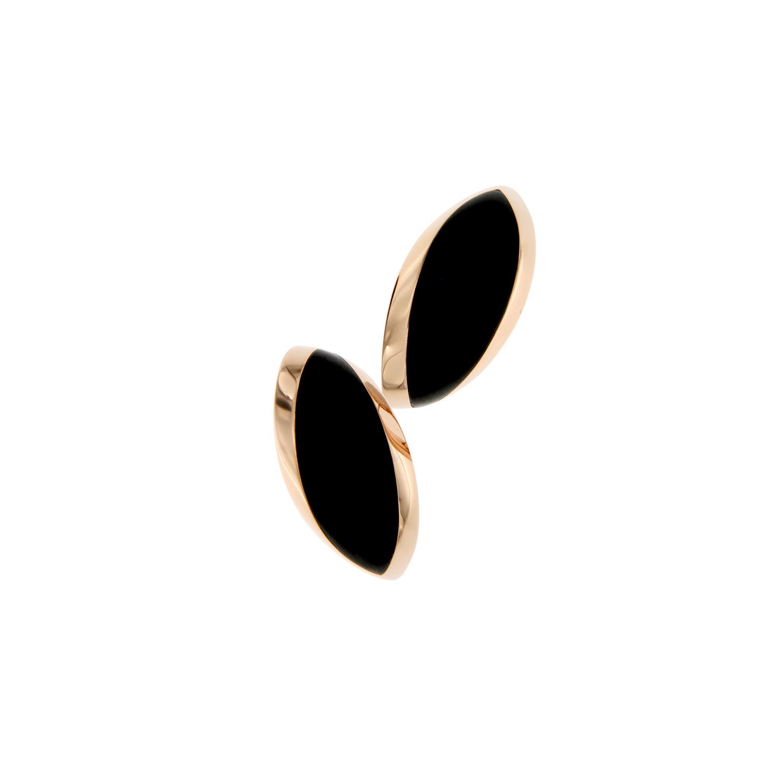 Orecchini cm.4 in oro rosa e occhio falco