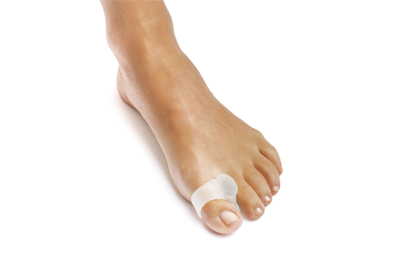 Gel toe spreader w/toe loop