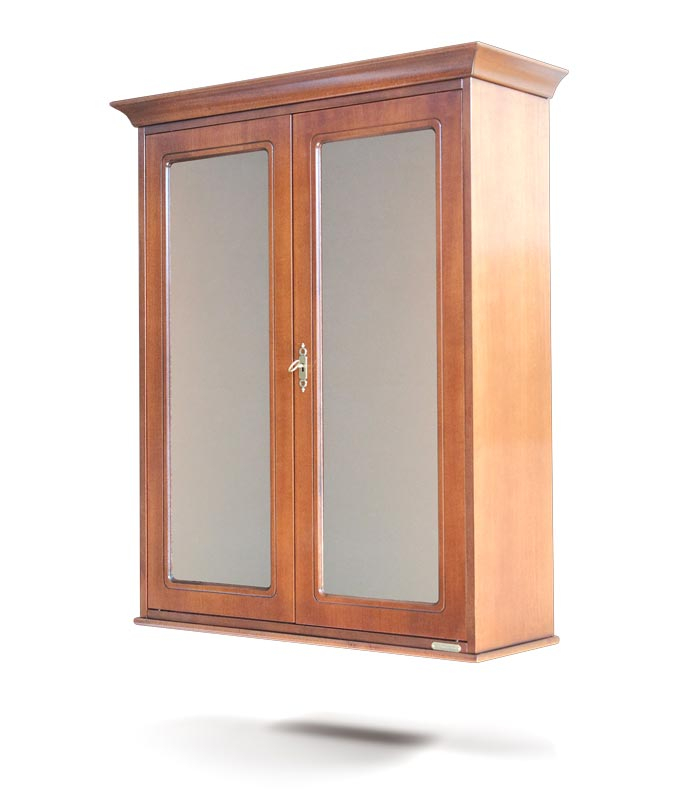 Vitrina de pared 2 puertas en madera estilo clásico
