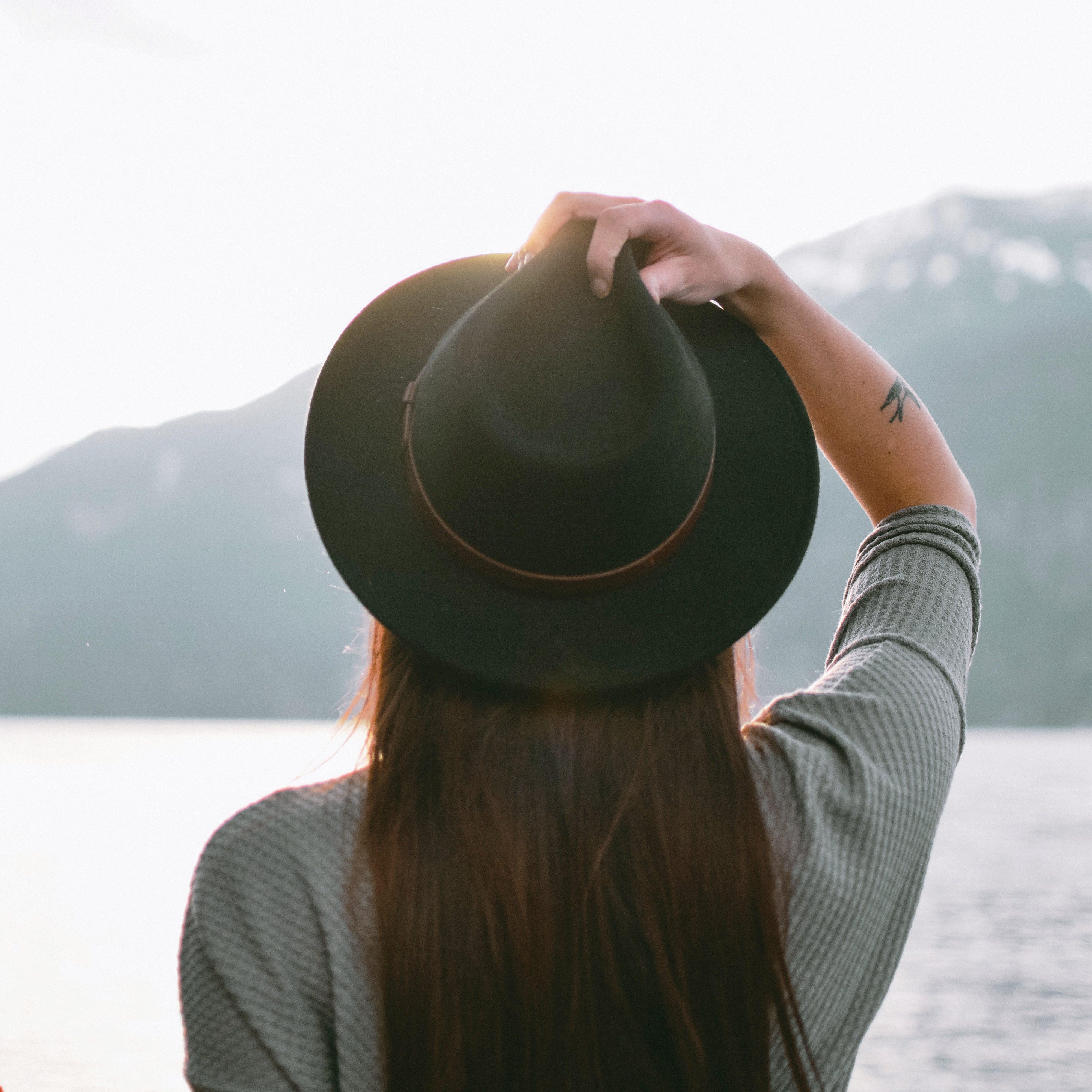 Cappello donna Feltro, cappello donna feltro tesa larga ...