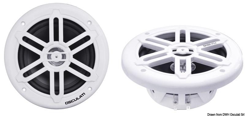 Casse stereo doppio cono bianche 5,25