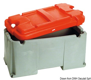 Cassetta porta batteria 1 batt - Osculati