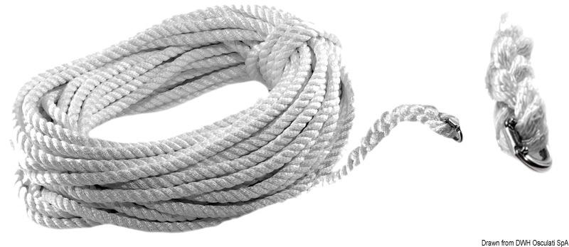 Cima c/falsa maglia 5 m 12 mm - Osculati