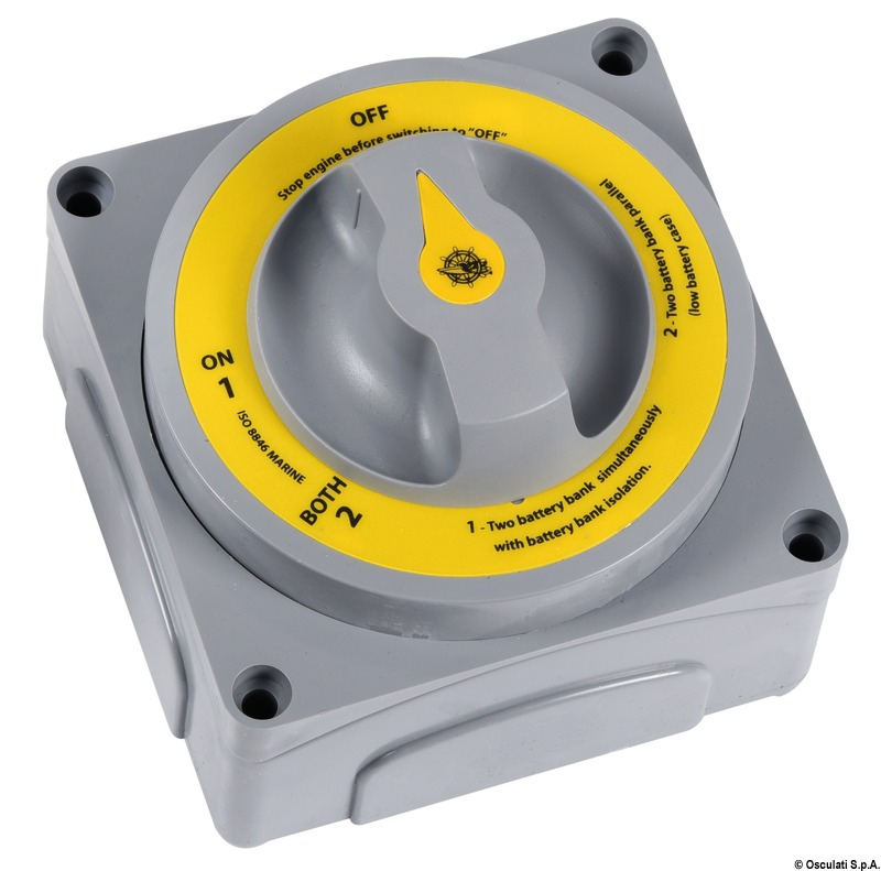 Commutatore Staccabatteria Selecta New MKlll IP65 - Osculati