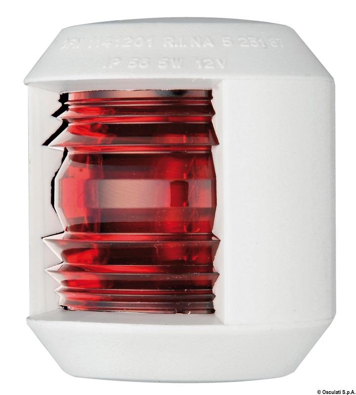 Fanale Utility 88 rosso/bianco - Osculati