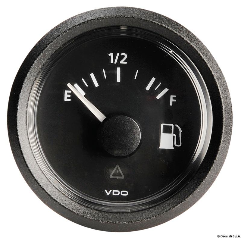 Indicatore VDO fuel 10/180 ner - Osculati