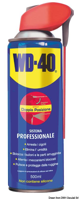 Lubrificante multiuso WD-40 Profwssional 500 ml - Osculati