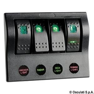 Pannello Elettrico PCP Compact 4 Interr. - Osculati