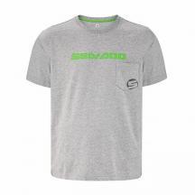 T-Shirt Crew Uomo Grigio (L)
