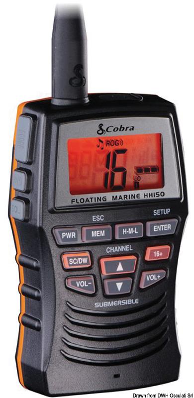 VHF cobra MR HH150 FLTE - Osculati