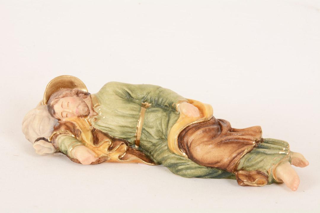 S. Giuseppe dormiente in legno colorato