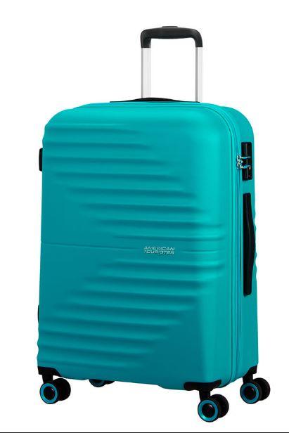 American Tourister Wavetwister Valigia trolley (4 ruote) Aqua Turquoise 94 lt
