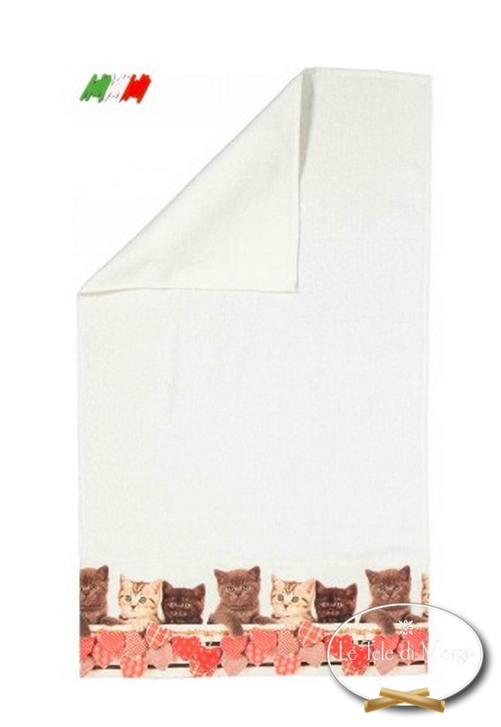Asciugamani stampa digitale Gatti Hearts