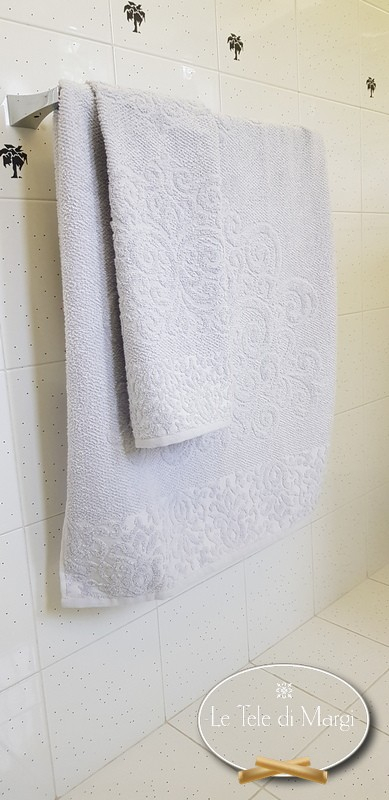 Asciugamani Arabesque Grigio Polvere