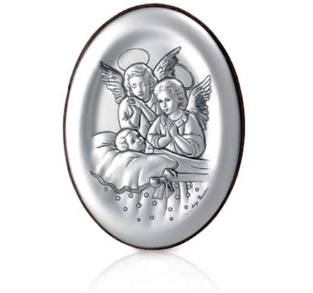 LEADER ARGENTI Icona Sacra Ovale, Angeli