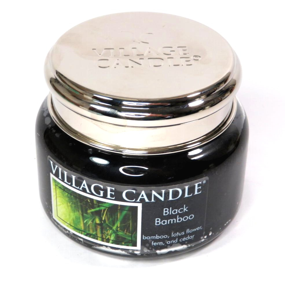Candela Village Candle Black bamboo 50 ore