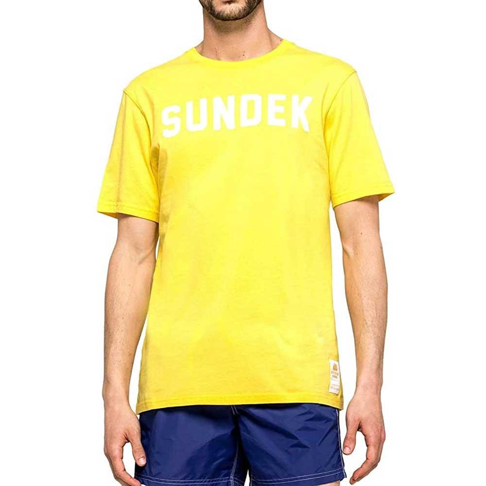 Sundek T Shirt Logo Giallo da Uomo