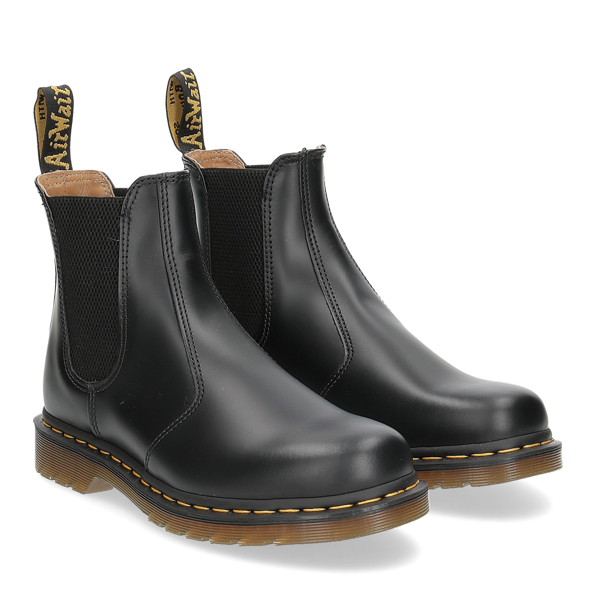 Dr. Martens Beatles Donna 2976 black smooth yellow stich
