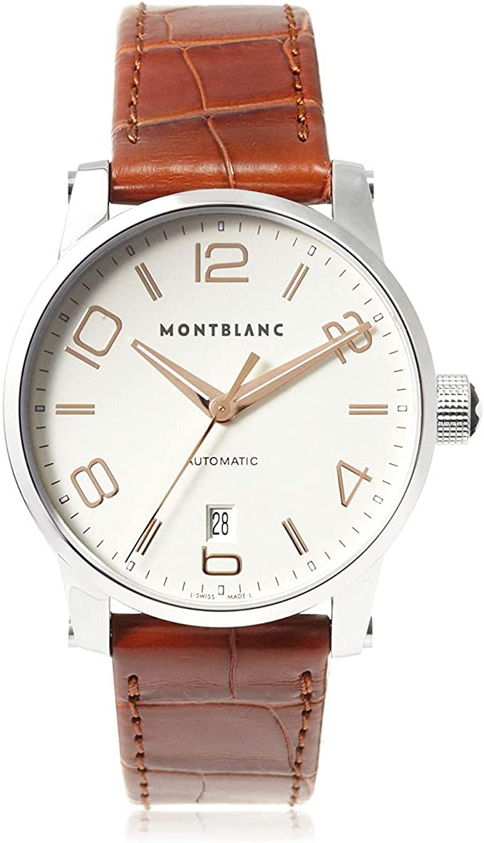 MONTBLANC TIMEWALKER SILVER BROWN