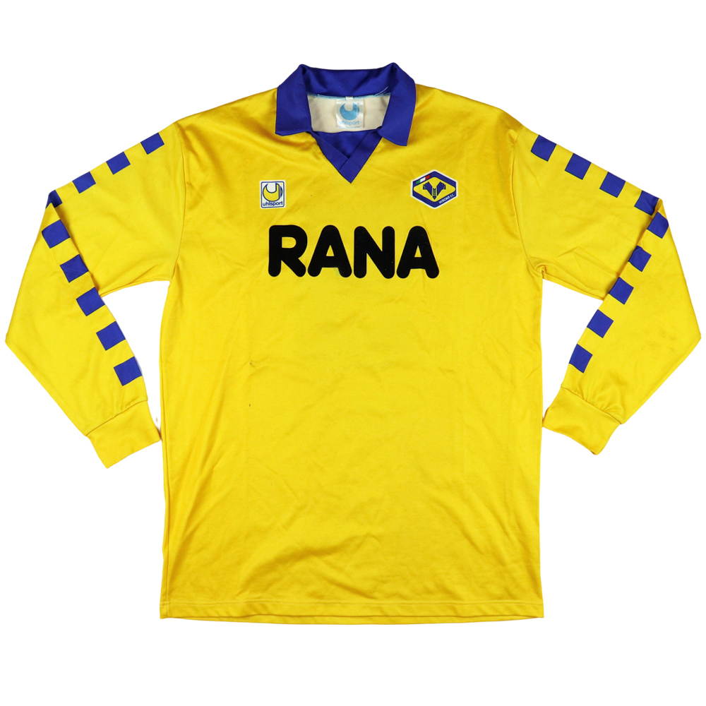 1991-92 Hellas Verona Maglia Away Match worn vs Ac Milan #5 E.Rossi XL (Top)