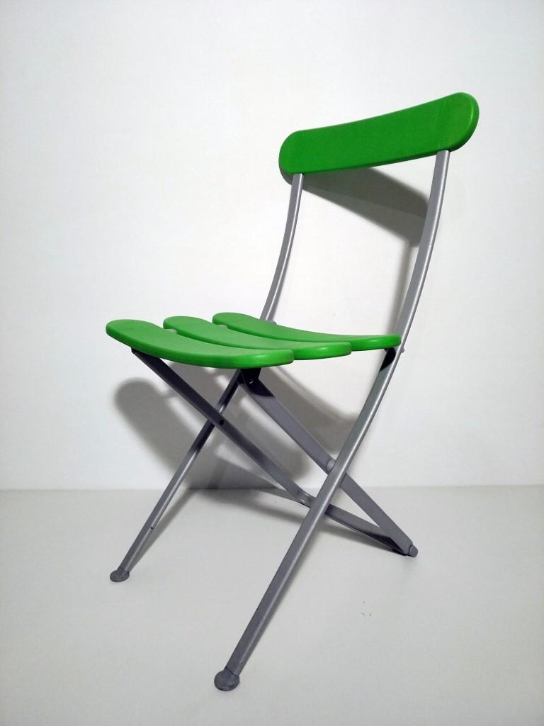 Sedia pieghevole per esterni colore verde, Magis