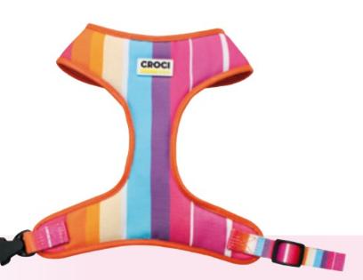 Pettorina per cani  Rainbow Croci  Summer 2020