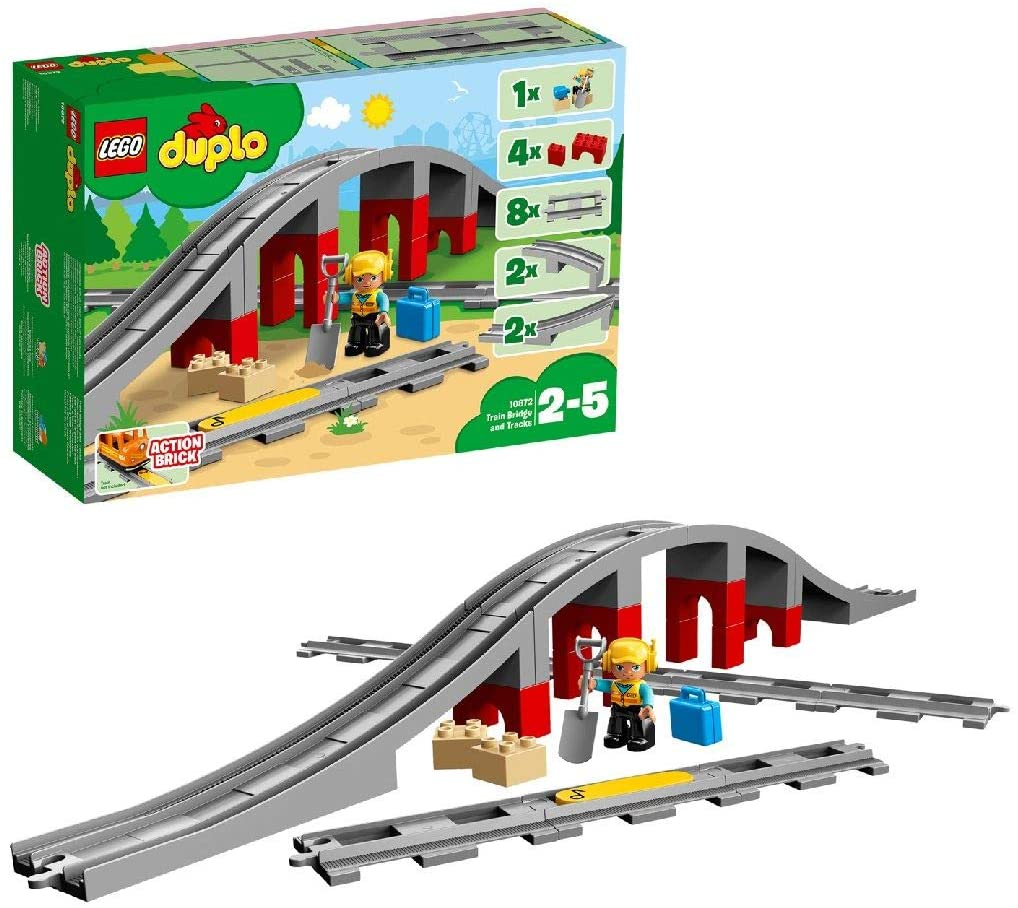 DUPLO 10872 - Ponte e binari ferroviari
