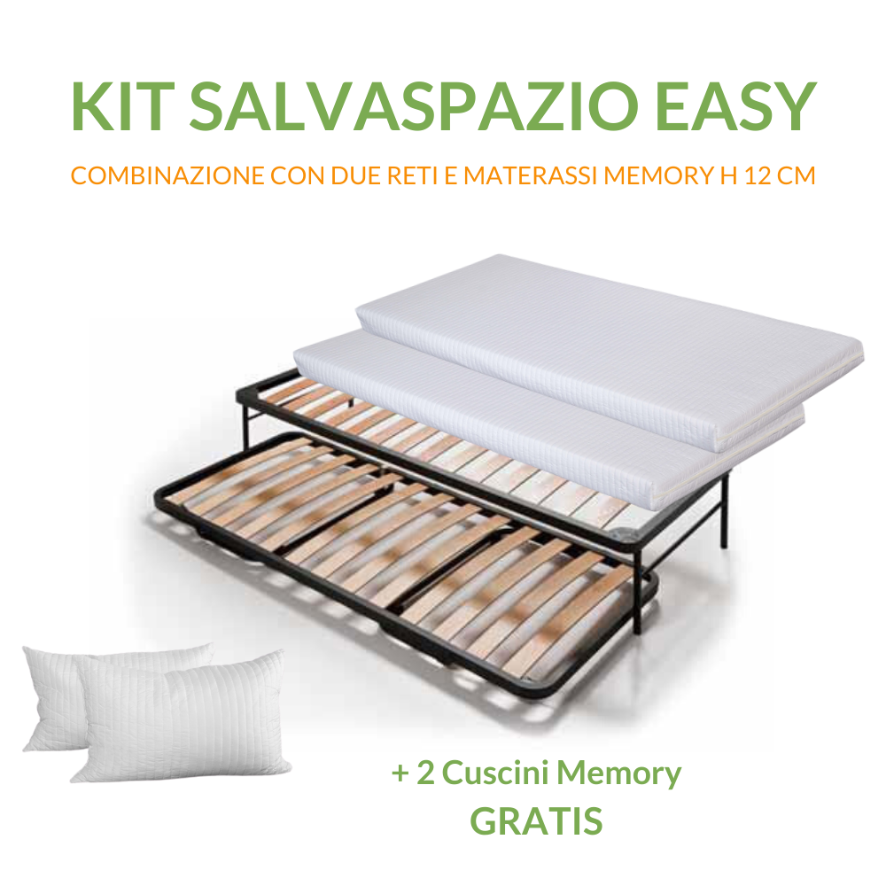 Kit Salvaspazio | 2 Materassi in WaterFoam +  2 Reti Salvaspazio
