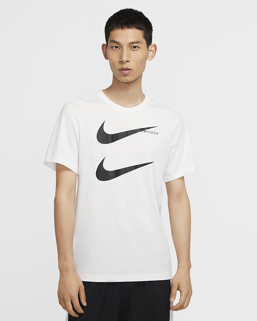 T-shirt Nike Sportswear Swoosh Uomo CU7278-100  -9