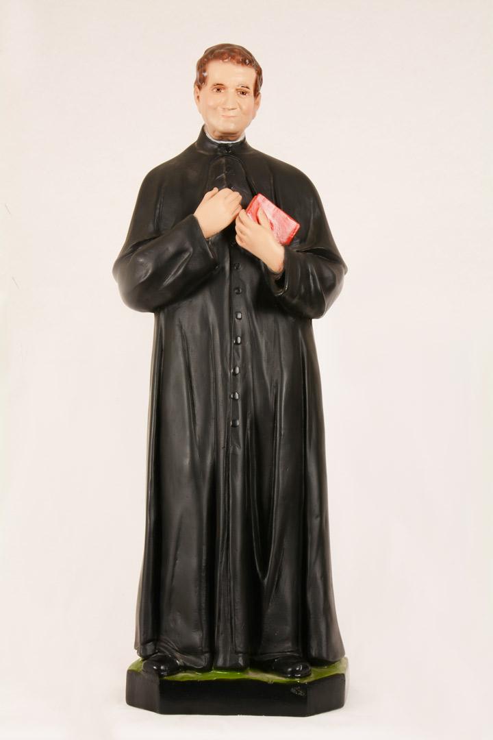 Statua S. Giovanni Bosco in gesso decorato