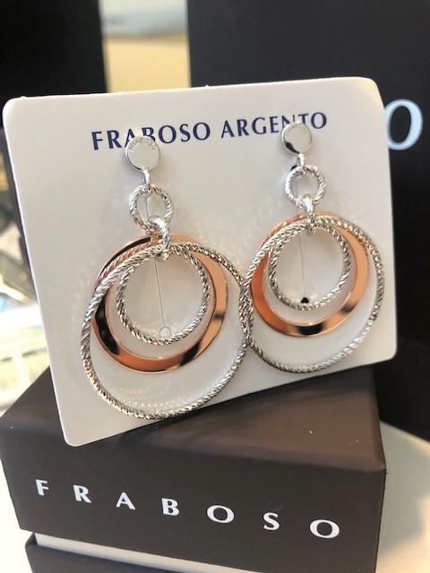 Orecchini in argento 925- rosè Fraboso